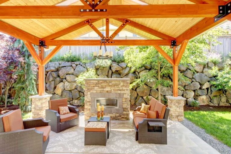 Outdoor Spaces - fireplace